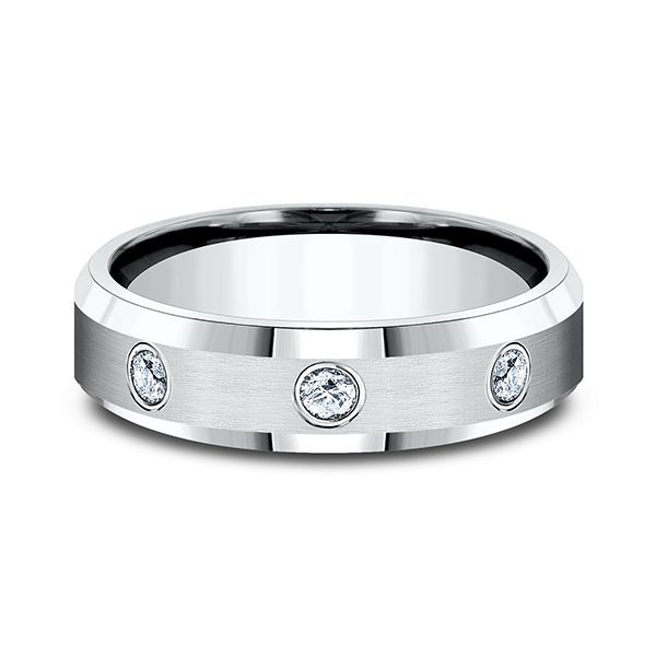 Men's Wedding Bands - Comfort-Fit Diamond Ring