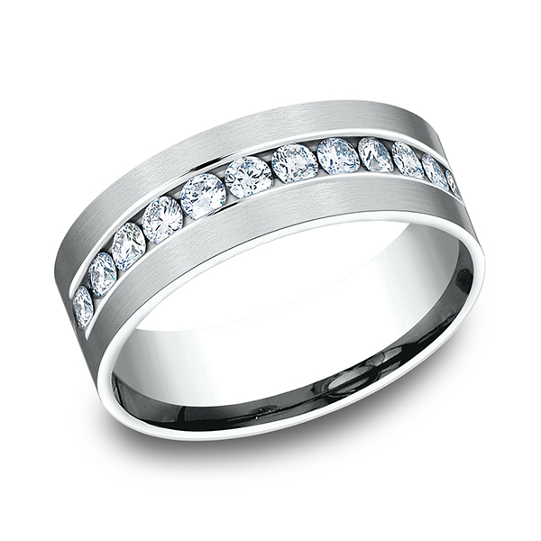 Wedding Bands - Comfort-Fit Diamond Wedding Band