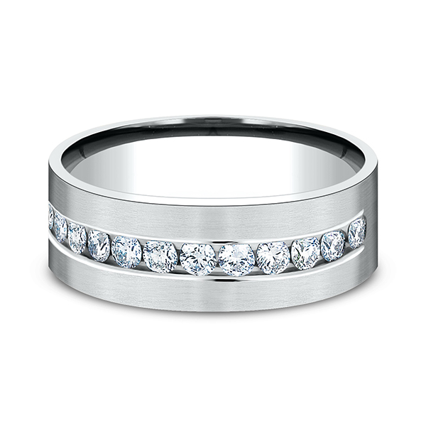 Wedding Bands - Comfort-Fit Diamond Wedding Band - image #3