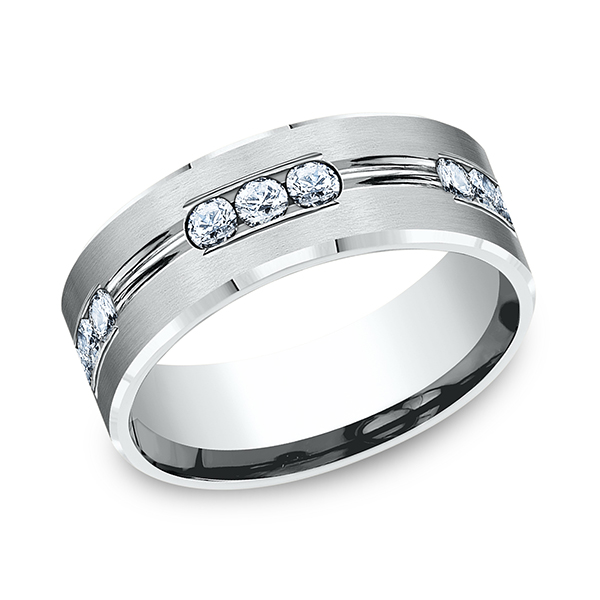 Comfort-Fit Diamond Wedding Band Holly McHone Jewelers Astoria, OR