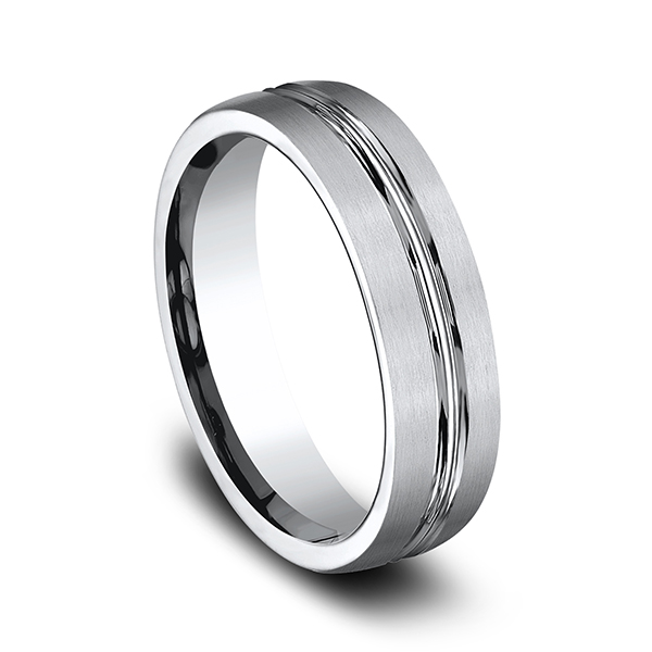 Wedding Bands - Cobalt Comfort-Fit Design Wedding Band - image #2