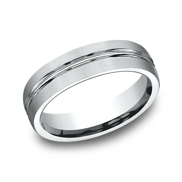 Men's Wedding Bands - Comfort-Fit Design Ring - image 3