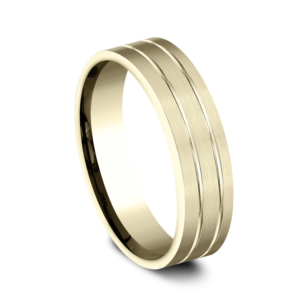 Wedding Bands - Comfort-Fit Design Wedding Ring - image 2