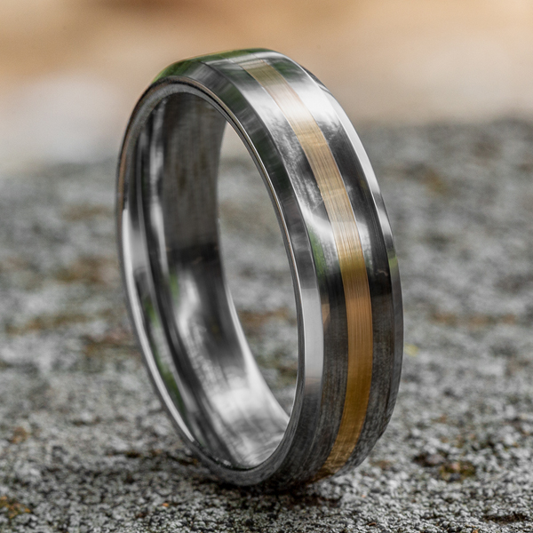 Wedding Bands - Tungsten Comfort-Fit Design Wedding Band - image 4