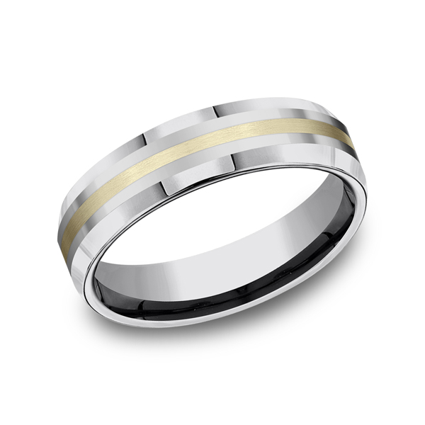 Men's Wedding Bands - Tungsten Comfort-Fit Design Wedding Band