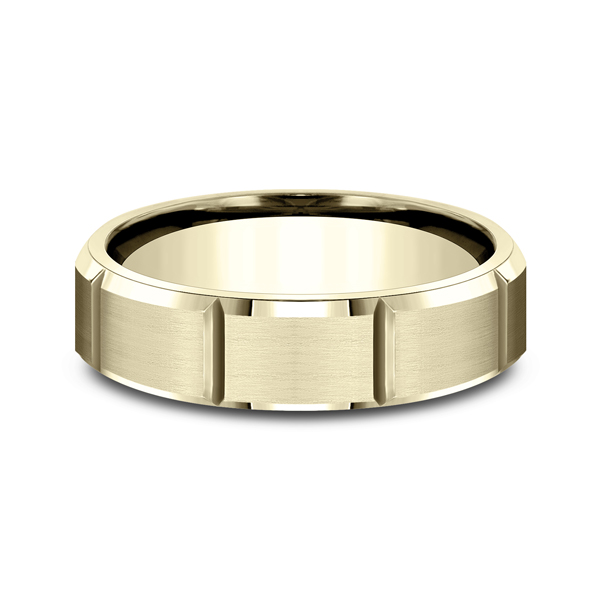 Men's Wedding Bands - Comfort-Fit Design Wedding Ring - image 3