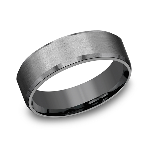 Alternative Metals - Tantalum Comfort-fit wedding band