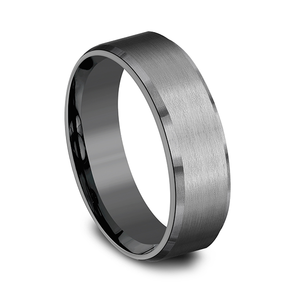 Alternative Metals - Tantalum Comfort-fit wedding band - image #2