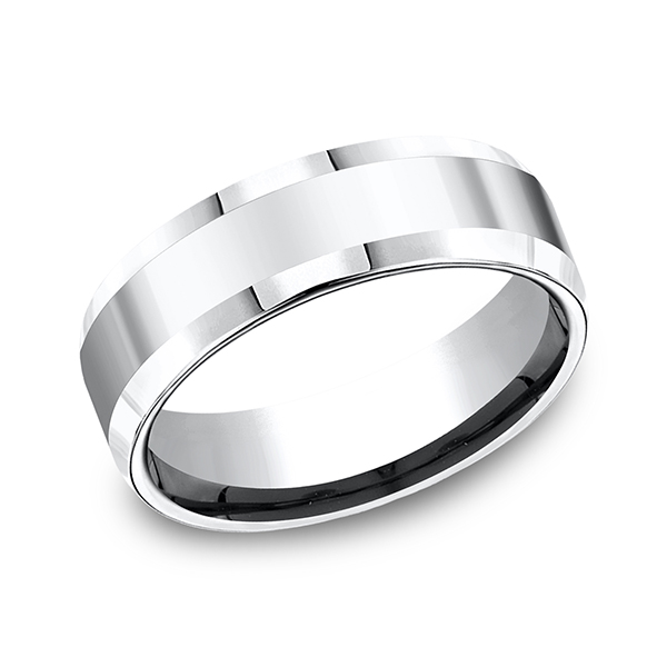 Men's Wedding Bands - Cobalt Comfort-Fit Design Ring