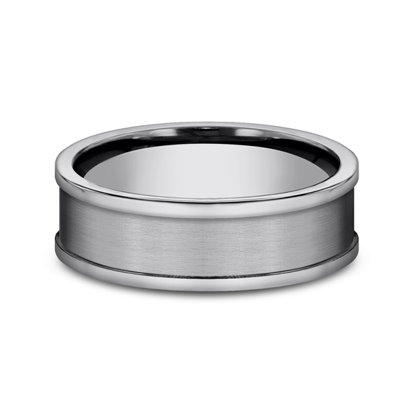 Rings - Tungsten Comfort-Fit Design Wedding Band - image #3