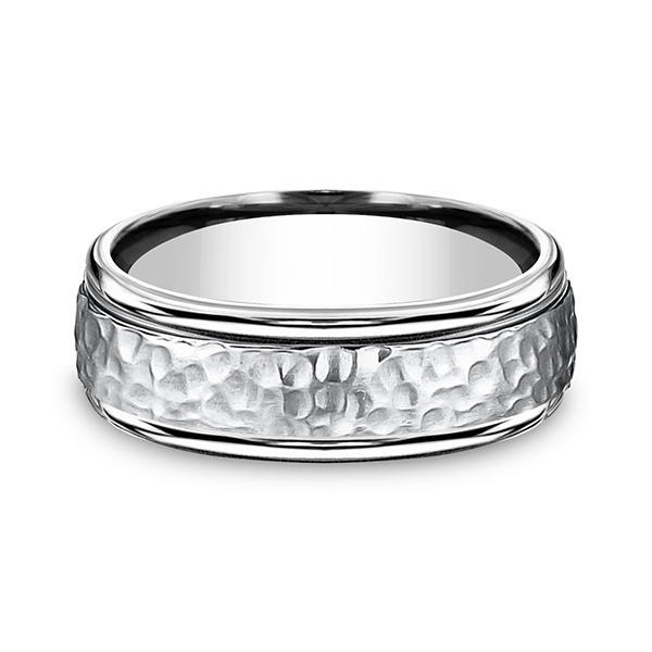 Men's Wedding Bands - Cobalt Comfort-Fit Design Ring - image #3