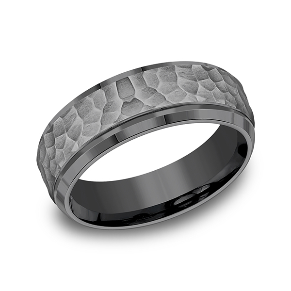 Men's Wedding Bands - Tantalum Comfort-fit Design Ring