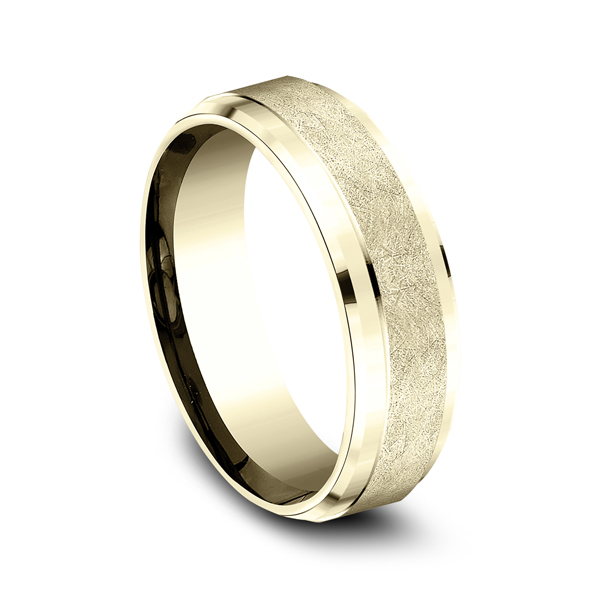 Men's Wedding Bands - Comfort-Fit Design Wedding Ring - image #2