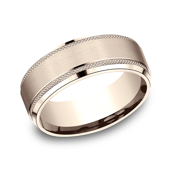 Wedding Bands - Comfort-Fit Design Ring - image 3