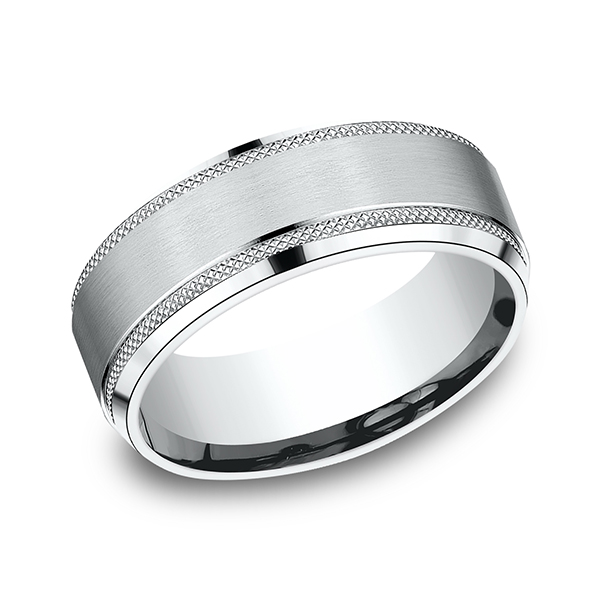 Wedding Bands - Comfort-Fit Design Ring - image #3