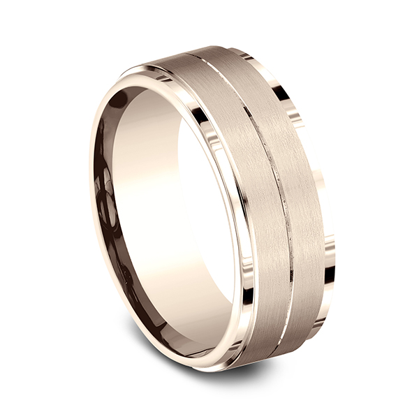 Wedding Bands - Comfort-Fit Design Ring - image #2