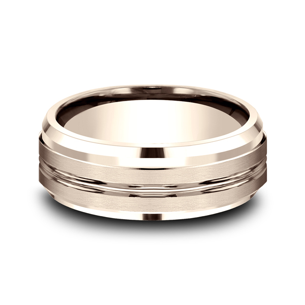 Men's Wedding Bands - Comfort-Fit Design Wedding Ring - image #3