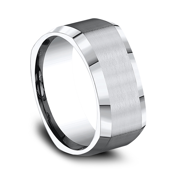 Men's Wedding Bands - Cobalt Comfort-Fit Design Wedding Band - image 2