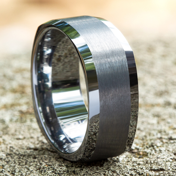 Wedding Bands - Tungsten Comfort-Fit Design Wedding Band - image #4