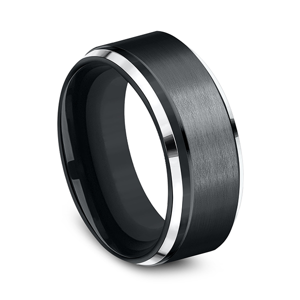 Wedding Bands - Cobalt Comfort-Fit Design Ring - image 3