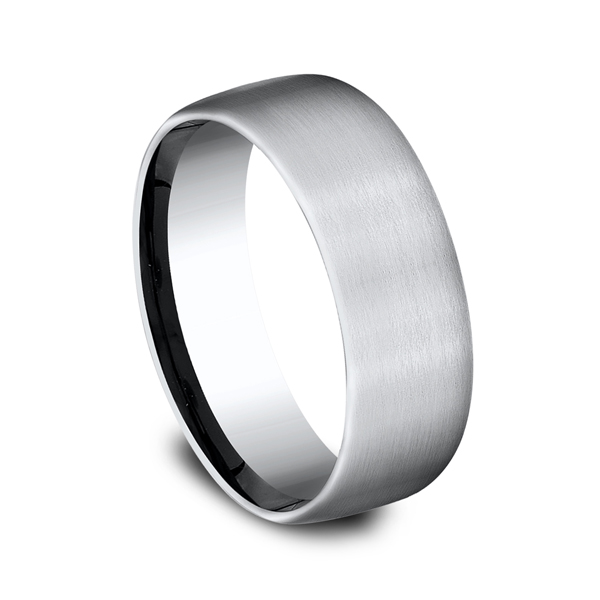 Men's Alternative Metal Wedding Bands - Cobalt Chrome Comfort-Fit Wedding Band - image 2