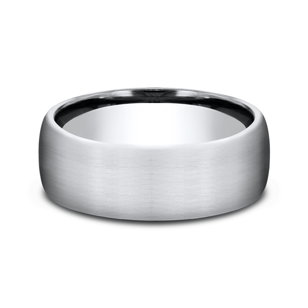 Men's Alternative Metal Wedding Bands - Cobalt Chrome Comfort-Fit Wedding Band - image 3