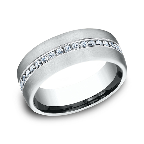 Men's Wedding Bands - Diamond Ring