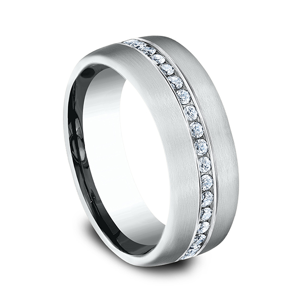 Men's Wedding Bands - Diamond Ring - image #2