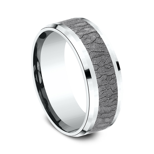 Wedding Bands - Ammara Stone Comfort-fit Design Ring - image 2