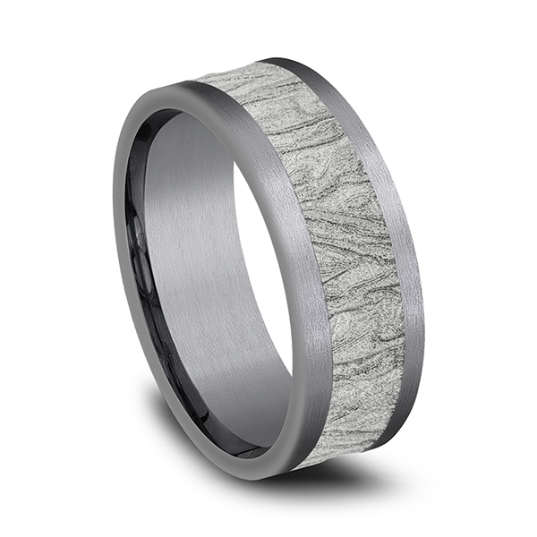 Rings - Ammara Stone Comfort-fit Design Wedding Band - image 2