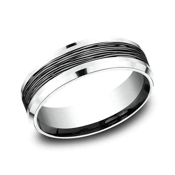 Ammara Stone Comfort-fit Design Wedding Ring by Ammara Stone