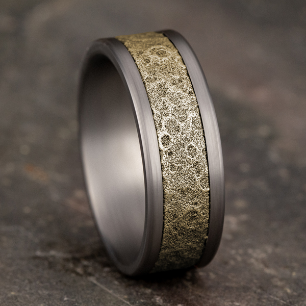 Wedding Bands - Ammara Stone Comfort-fit Design Wedding Band - image 4