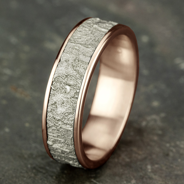 Wedding Bands - Two Tone Comfort-Fit Design Wedding Ring - image 4