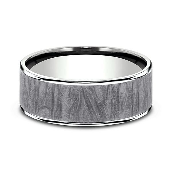 Wedding Bands - Ammara Stone Comfort-fit Design Wedding Band - image #3