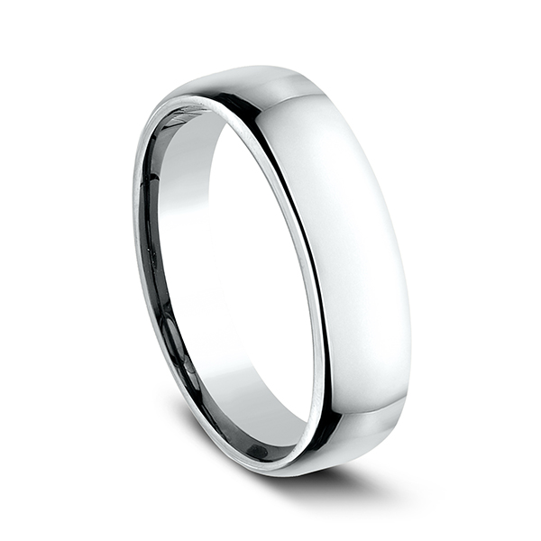 Men's Wedding Bands - European Comfort-Fit Ring - image 2