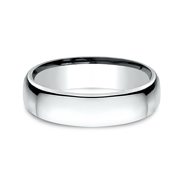 Men's Wedding Bands - European Comfort-Fit Wedding Ring - image #3