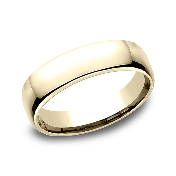 Men's Wedding Bands - European Comfort-Fit Ring - image #3