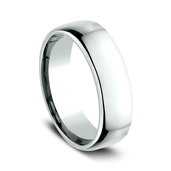 Wedding Bands - European Comfort-Fit Wedding Ring - image 2
