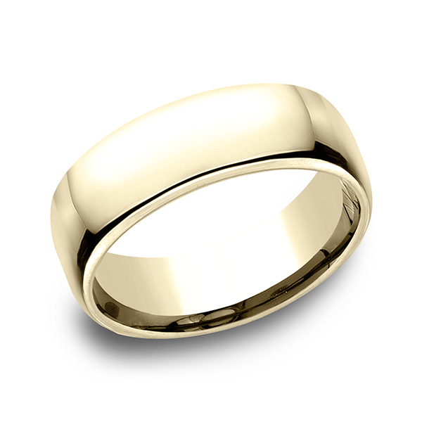 Gold - European Comfort-Fit Wedding Ring