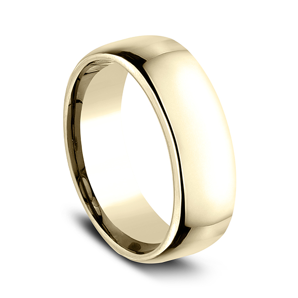 Gold - European Comfort-Fit Wedding Ring - image #2