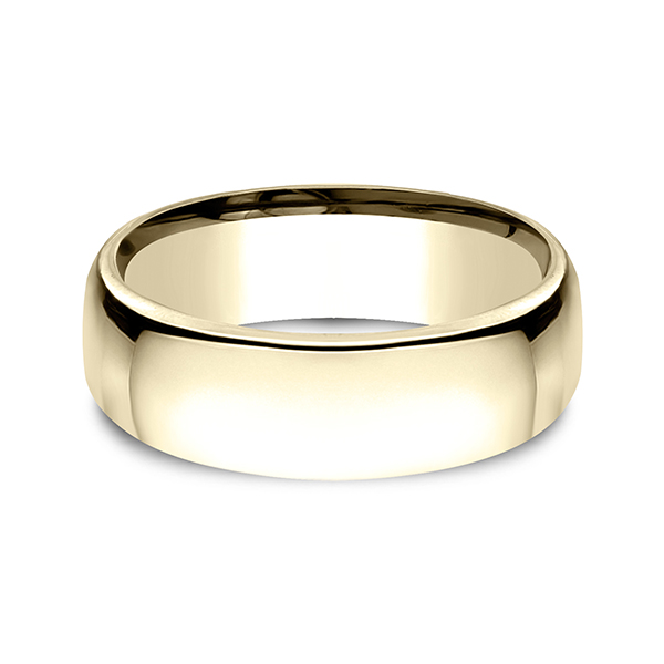 Gold - European Comfort-Fit Wedding Ring - image #3
