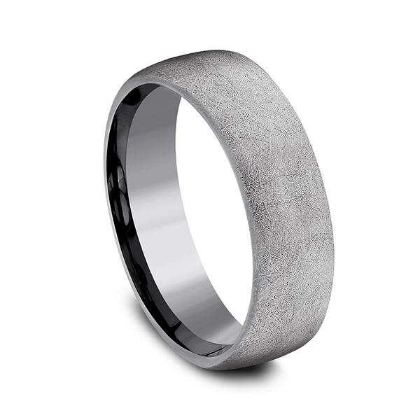 Wedding Bands - Tantalum Comfort-fit Design Wedding Band - image #2