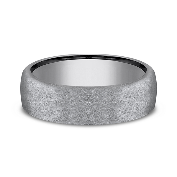 Wedding Bands - Tantalum Comfort-fit Design Wedding Band - image #3