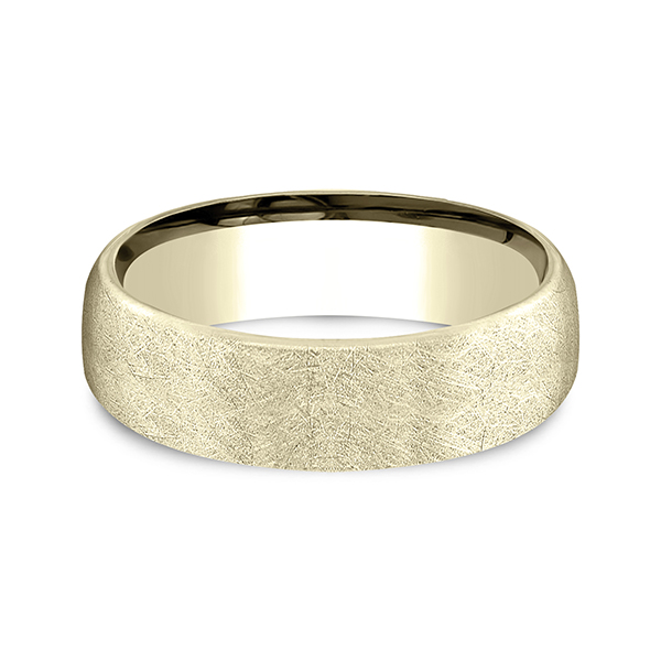Men's Wedding Bands - Comfort-Fit Design Wedding Band - image 3