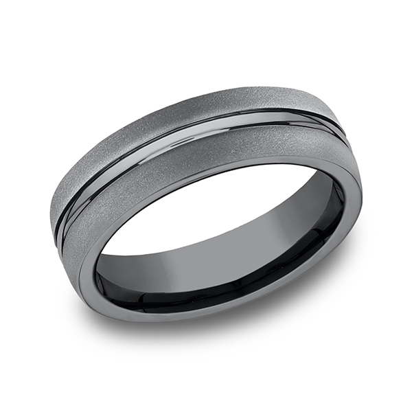 Wedding Bands - Tantalum Comfort-fit Design Wedding Band