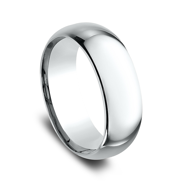 Men's Wedding Bands - Standard Comfort-Fit Wedding Ring - image 2