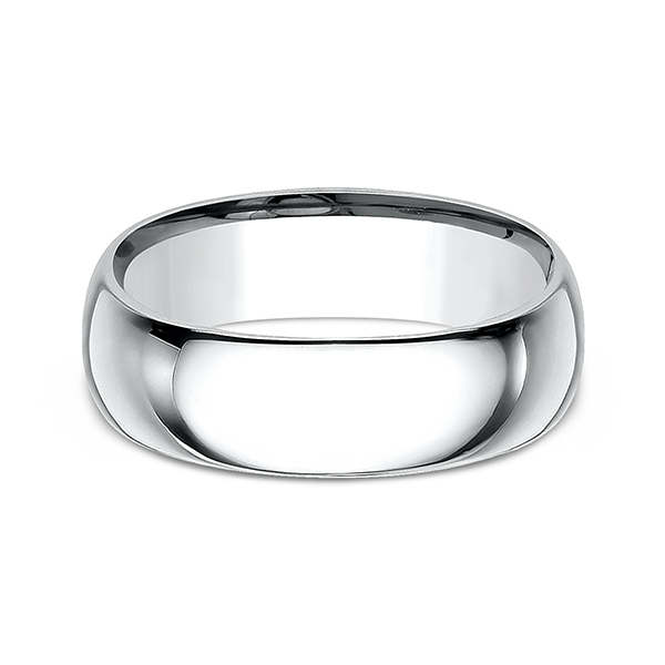 Men's Wedding Bands - Standard Comfort-Fit Wedding Ring - image 3