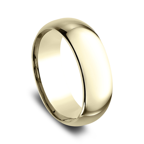 Men's Wedding Bands - Standard Comfort-Fit Wedding Ring - image #2