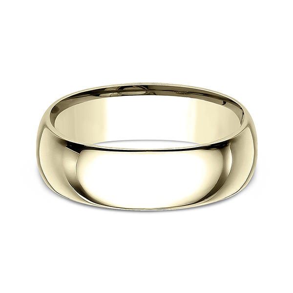 Men's Wedding Bands - Standard Comfort-Fit Wedding Ring - image #3
