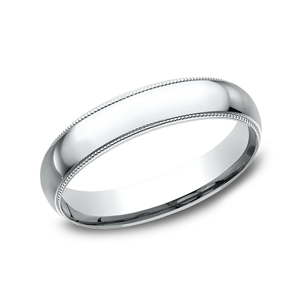 Men's Wedding Bands - Milgrain Standard Comfort Fit Ring